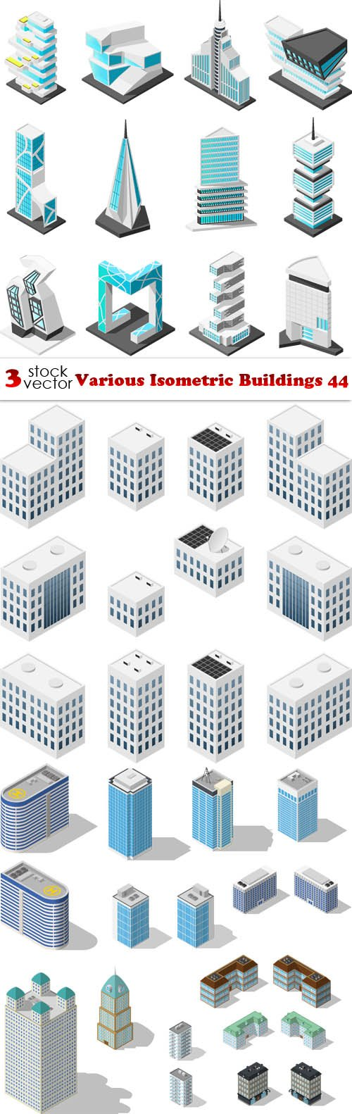 Vectors - Various Isometric Buildings 44