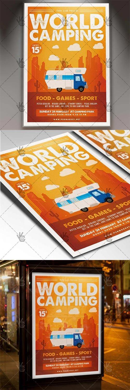 Camping World – Summer Flyer PSD Template