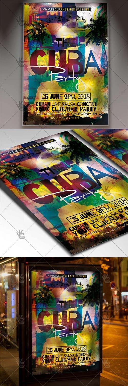 Cuba Party Flyer – Club Flyer PSD Template