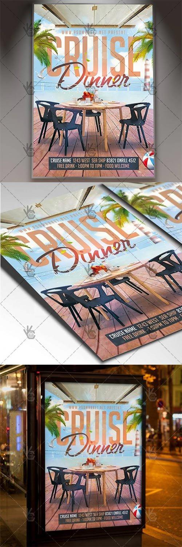 Cruise Dinner – Travel Flyer PSD Template