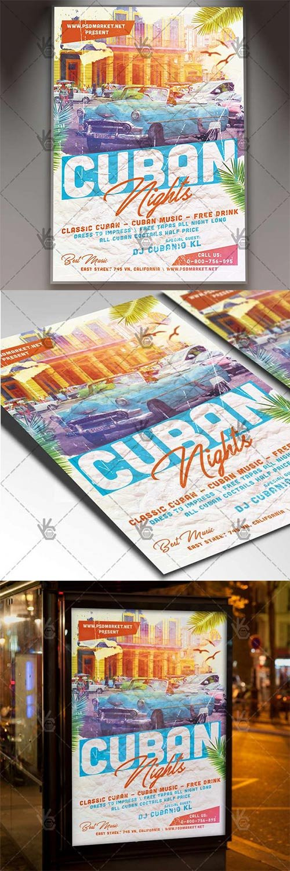 Cuban Nights Flyer – Club Flyer PSD Template