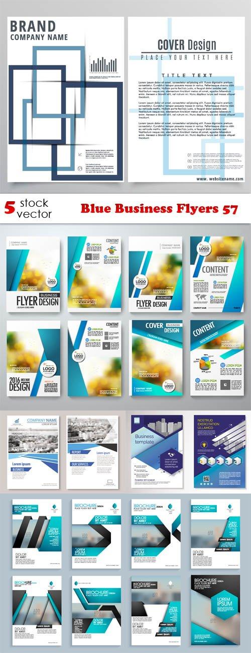 Vectors - Blue Business Flyers 57
