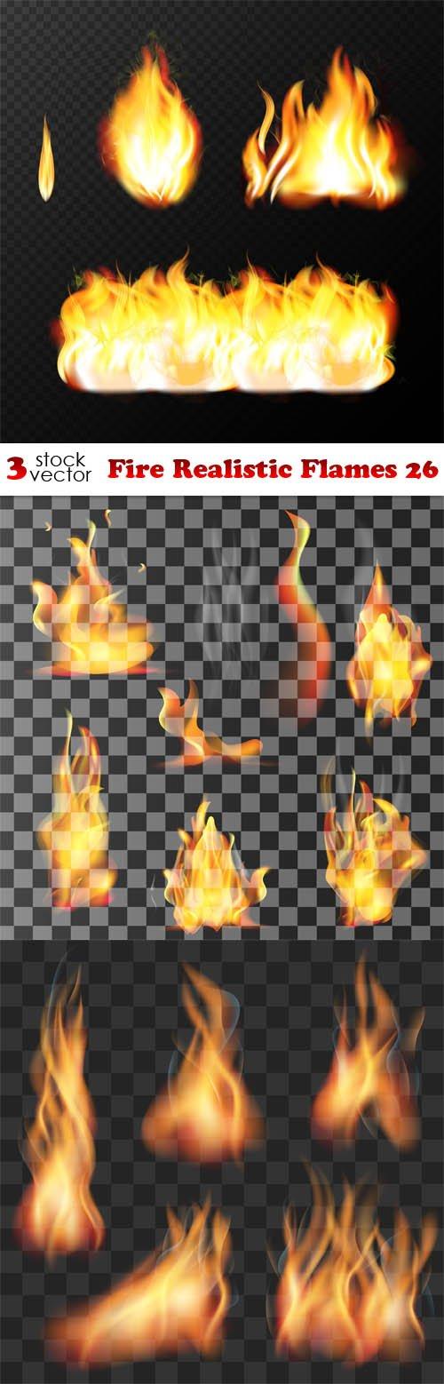 Vectors - Fire Realistic Flames 26