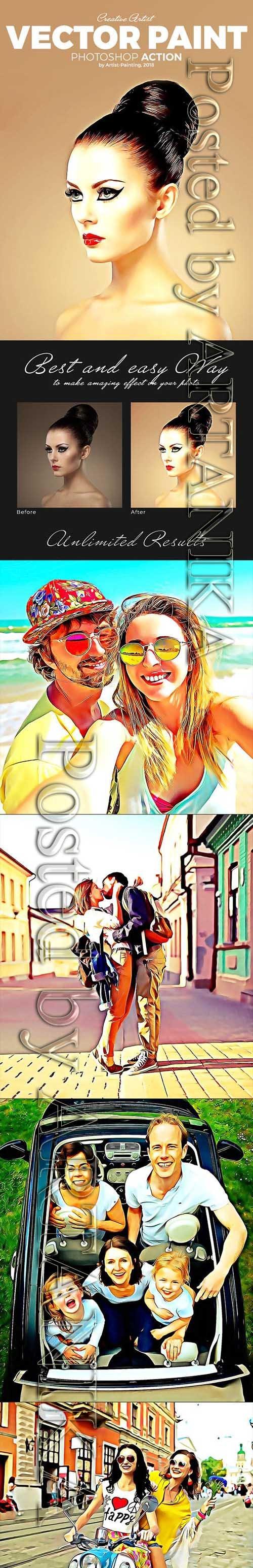 Graphicriver - Vector Paint Photoshop Action 21282262