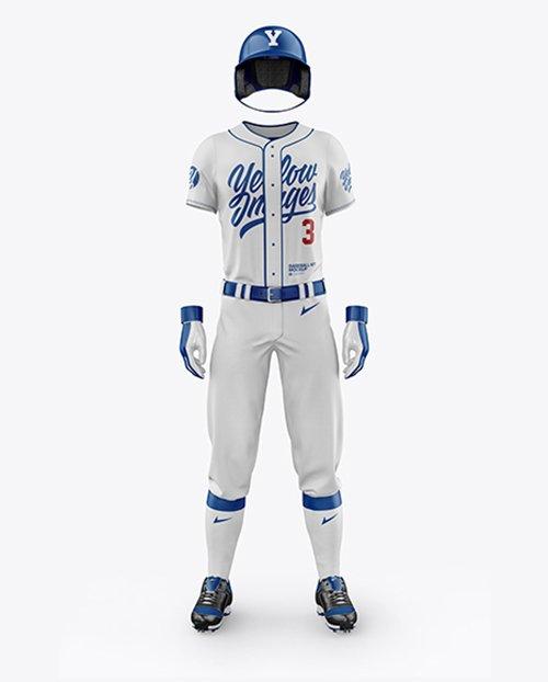 Men's Full Baseball Kit Mockup TIF
