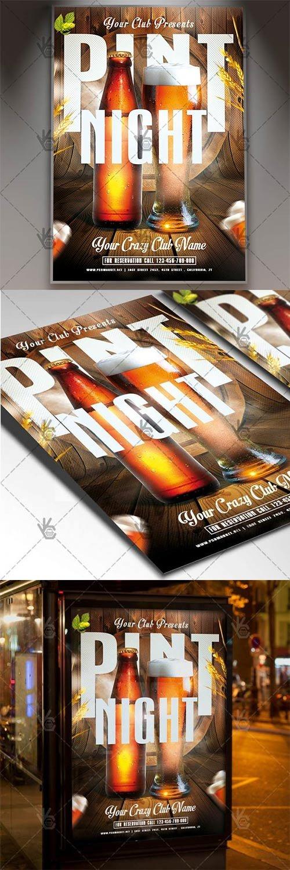 Pint Night – Club Flyer PSD Template