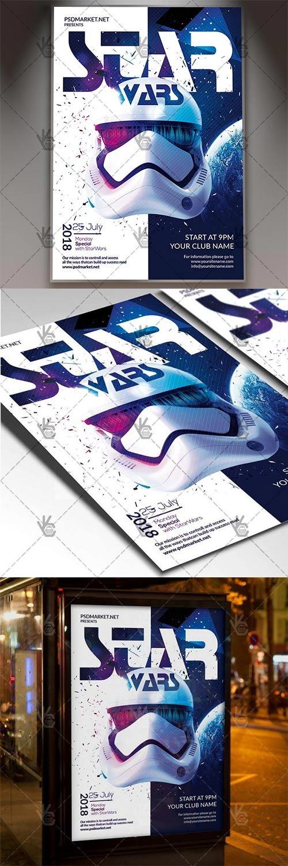 Star Wars – Club Flyer PSD Template