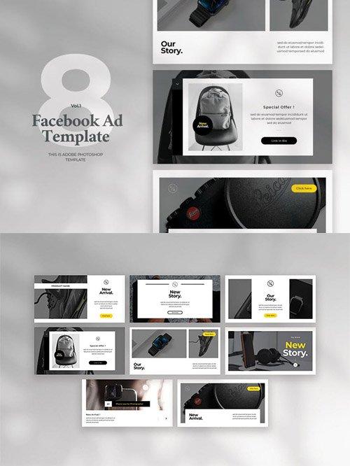 Facebook Ad Template Vol.1