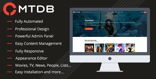 CodeCanyon - MTDb v3.1.1 - Ultimate Movie&TV Database - 6447206