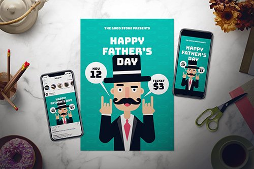 Father's Day Flyer Set 2