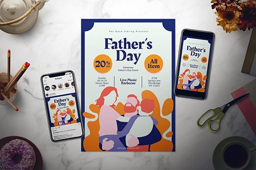Father's Day Flyer Set