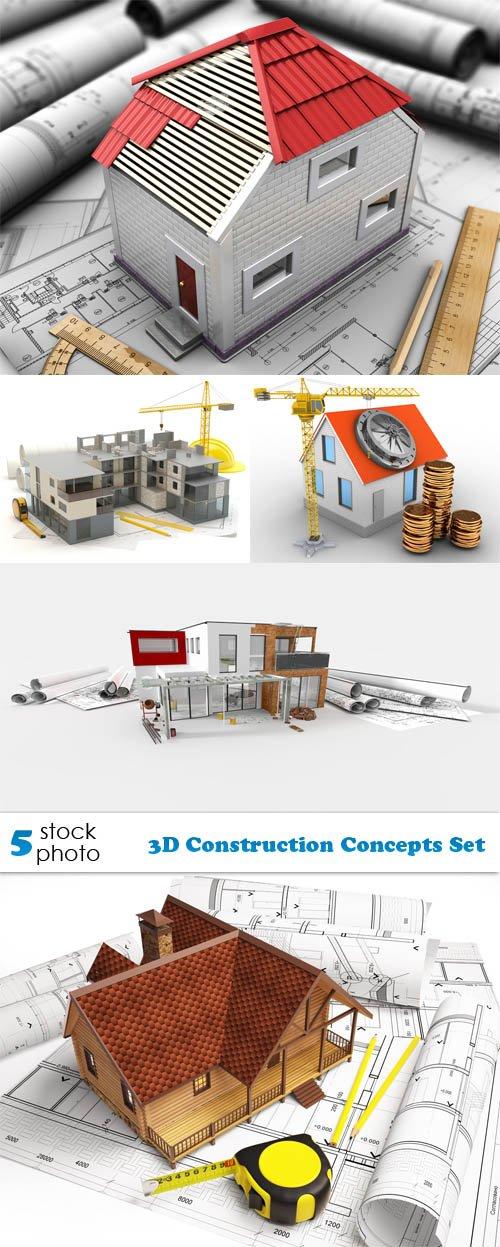 Photos - 3D Construction Concepts Set