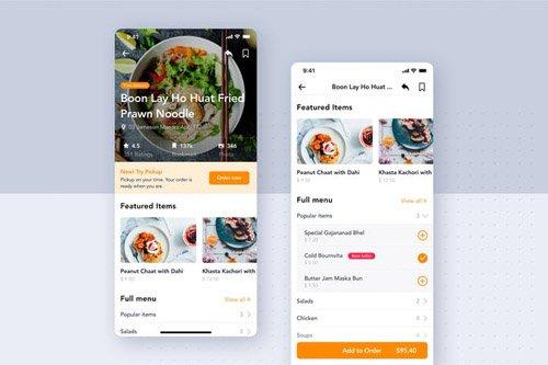 Restaurant Detail UI Concept for Food App
