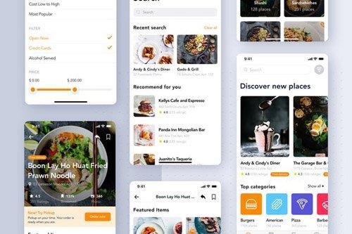 Food Delivery App UI Kit for SKETCH