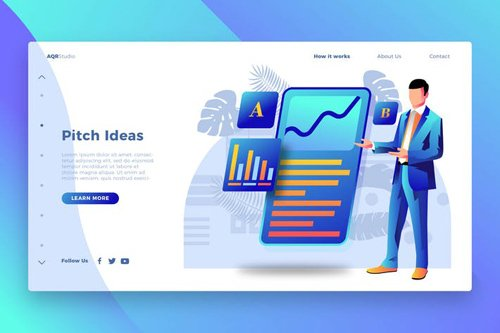 Pitch Ideas - Banner & Landing Page