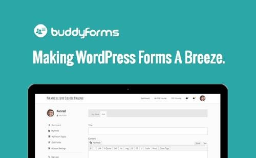 BuddyForms (Premium) v2.3.3.2 - Making WordPress Forms A Breeze - NULLED