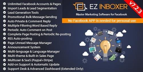 CodeCanyon - EZ Inboxer v7.2.3 - Master Marketing Software for Facebook - 19578006 - NULLED