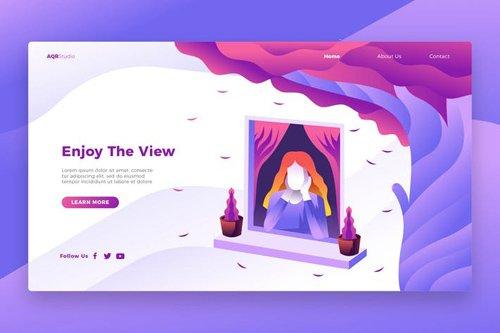 Enjoy View - Banner & Landing Page