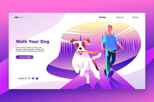Walk Your Dog - Banner & Landing Page