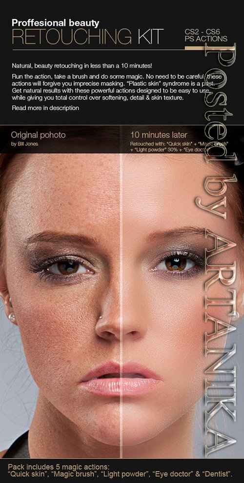 GraphicRiver - Professional Retouching Actions Kit 3224028