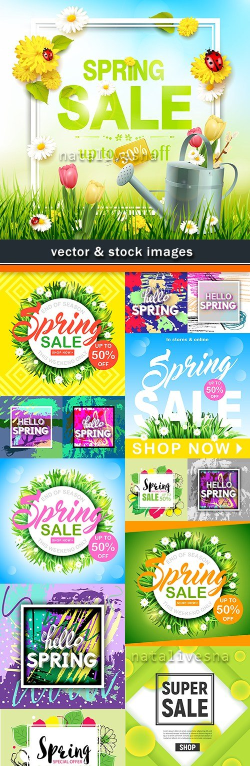 Spring discounts and special offers reduction of price