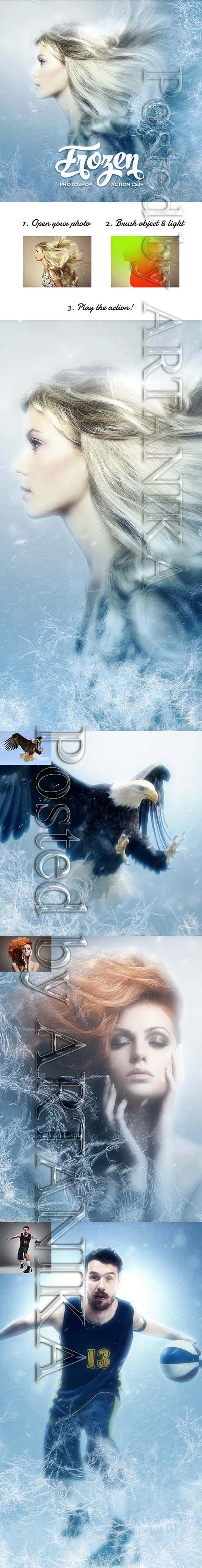 GraphicRiver - Frozen Photoshop Action CS3+ 19409748