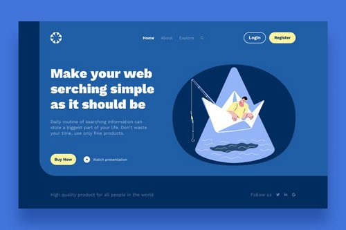 Boat Landing Page Template