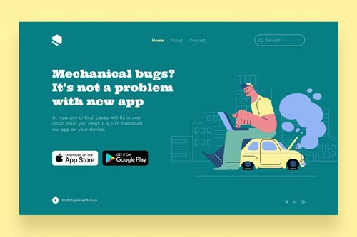 Car Fixing Landing Page Template