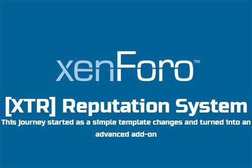 [XTR] Reputation System v1.0.0 - XenForo 2 Add-on