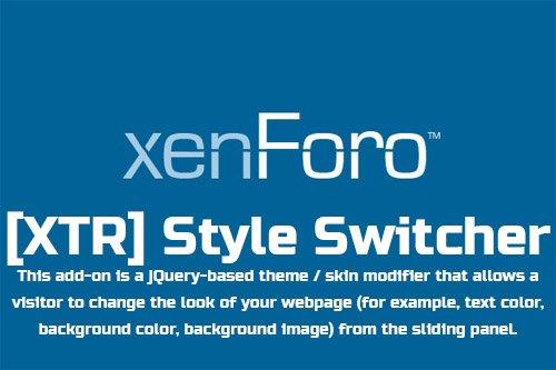 [XTR] Style Switcher v1.0.0 - XenForo 2 Add-on
