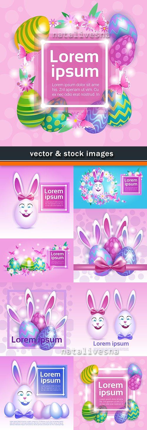 Happy Easter decorative illustration design elements 12