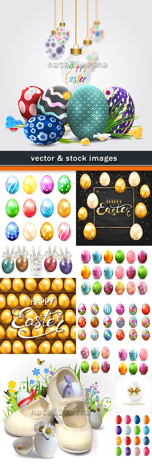 Easter eggs decorative ornament pattern illustration design