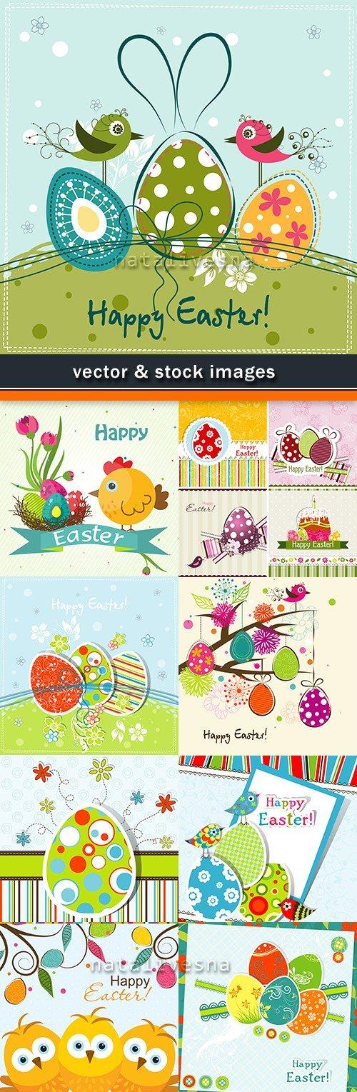 Happy Easter decorative illustration design elements 14