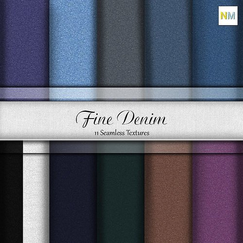 Essential Fine Denim Pack Fabrics Seamless Textures Set Texture