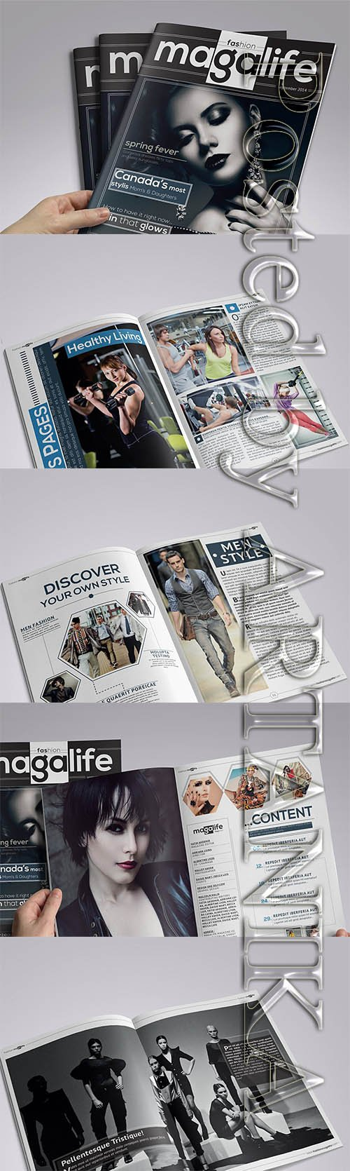 CreativeMarket - Magalife Magazine Template 1129862