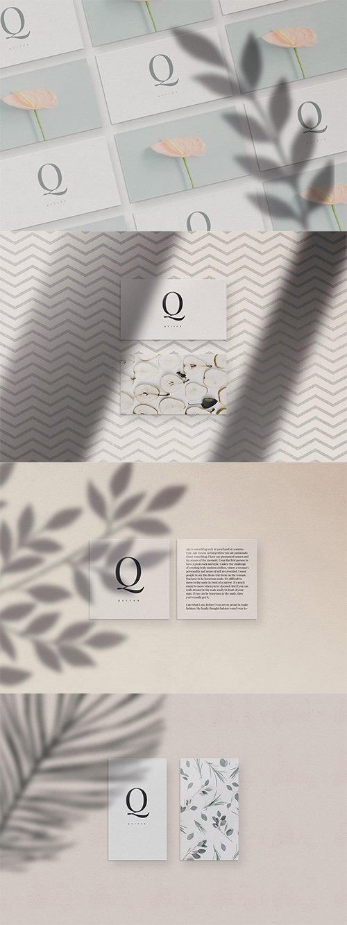 Quiver - Business Card Mockups