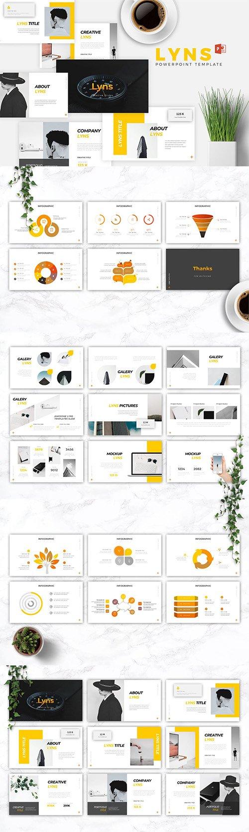 LYNS - Creative Powerpoint, Keynote, Google Slides Templates