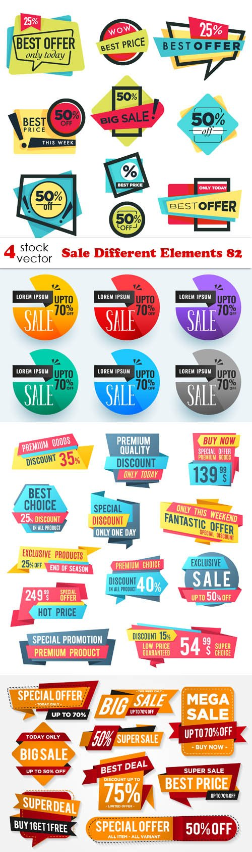 Vectors - Sale Different Elements 82