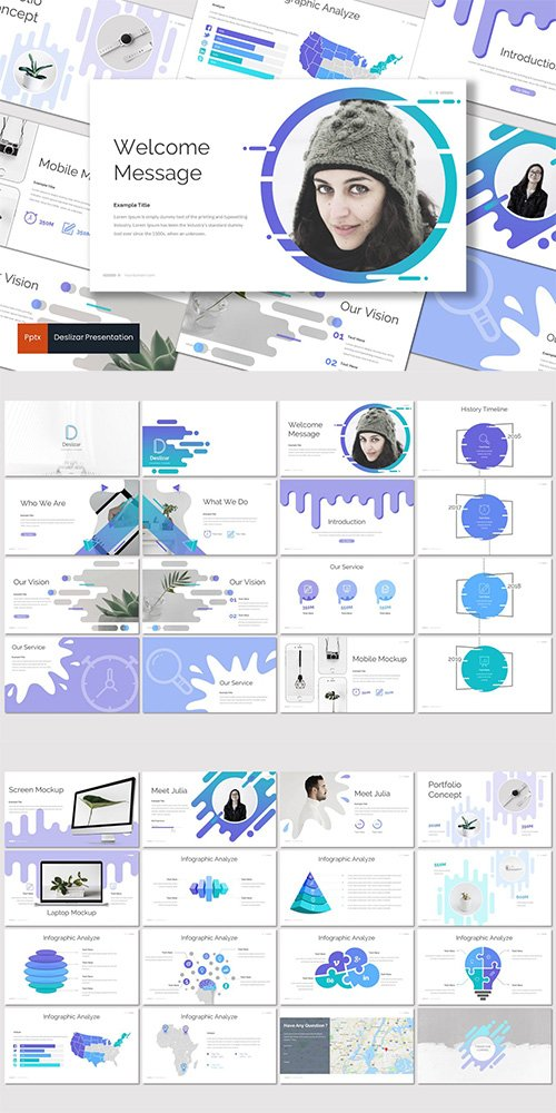 Deslizar - Powerpoint, Keynote, Google Slides Templates