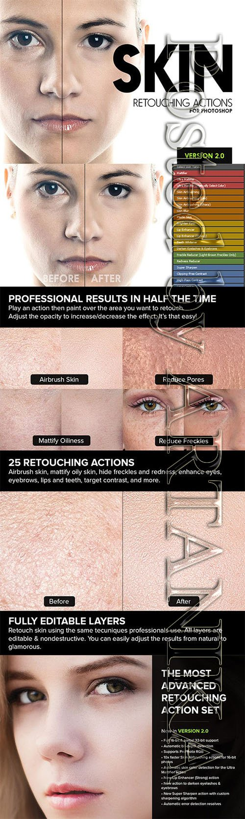 Graphicriver - Skin - 25 Retouching Actions 4419074