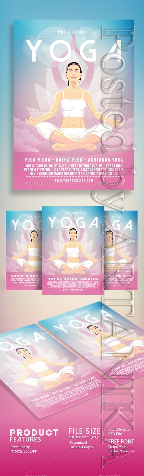Graphicriver - Yoga Flyer Poster 18307397