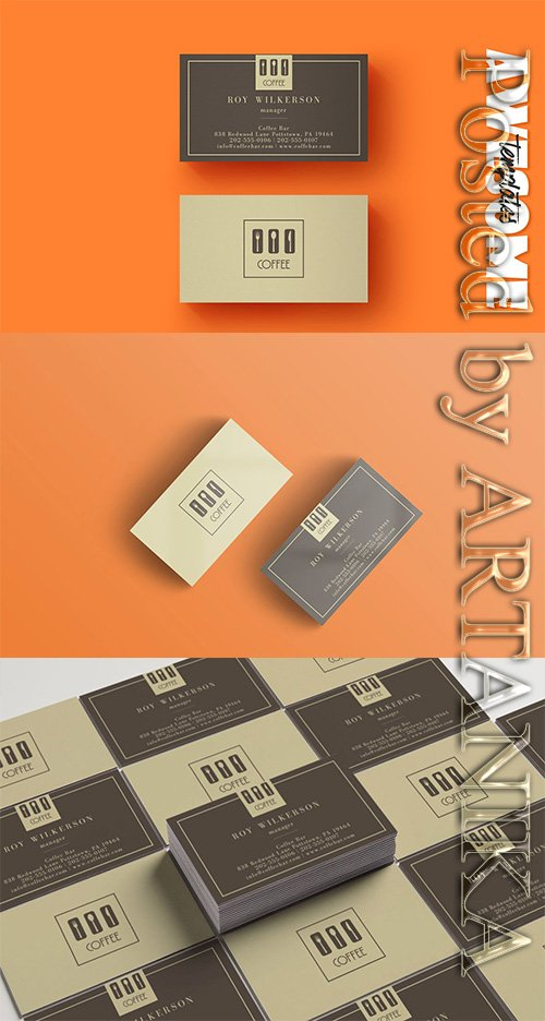 CreativeMarket - Coffee Business Card Template 2334730