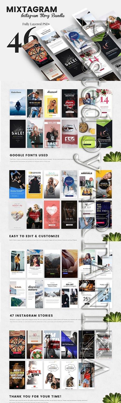 CreativeMarket - MIXTAGRAM - Instagram Story Bundle 2266619