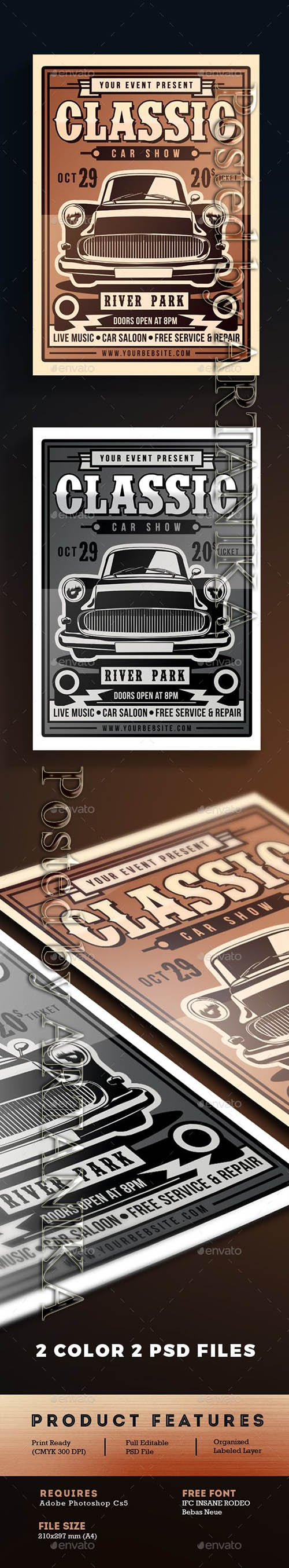Graphicriver - Classic Car Show Flyer 18292715