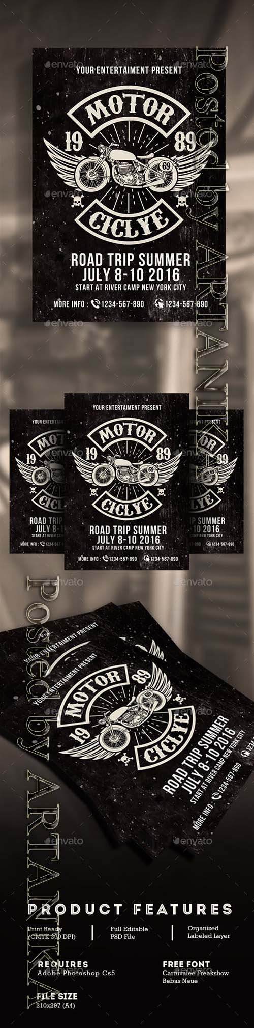 Graphicriver - Motorcycle Club Event 16792550