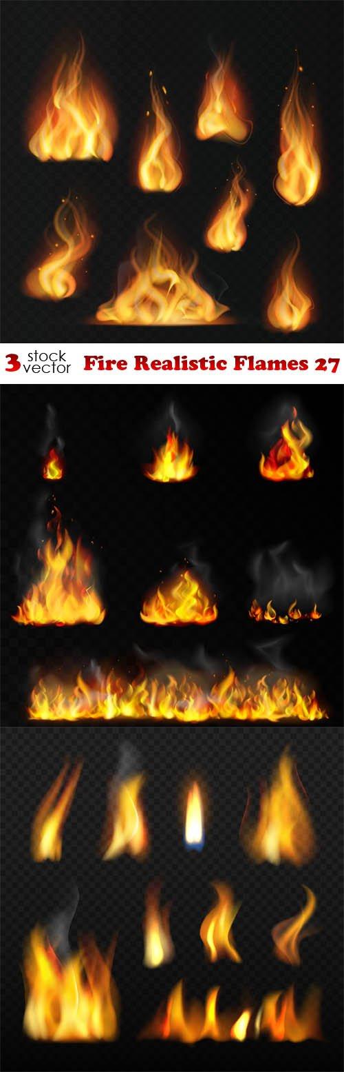 Vectors - Fire Realistic Flames 27