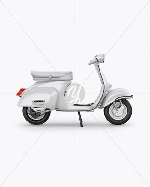 Vespa Scooter Mockup - Right Side View 19826 TIF