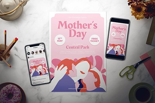Mother's Day Flyer Set