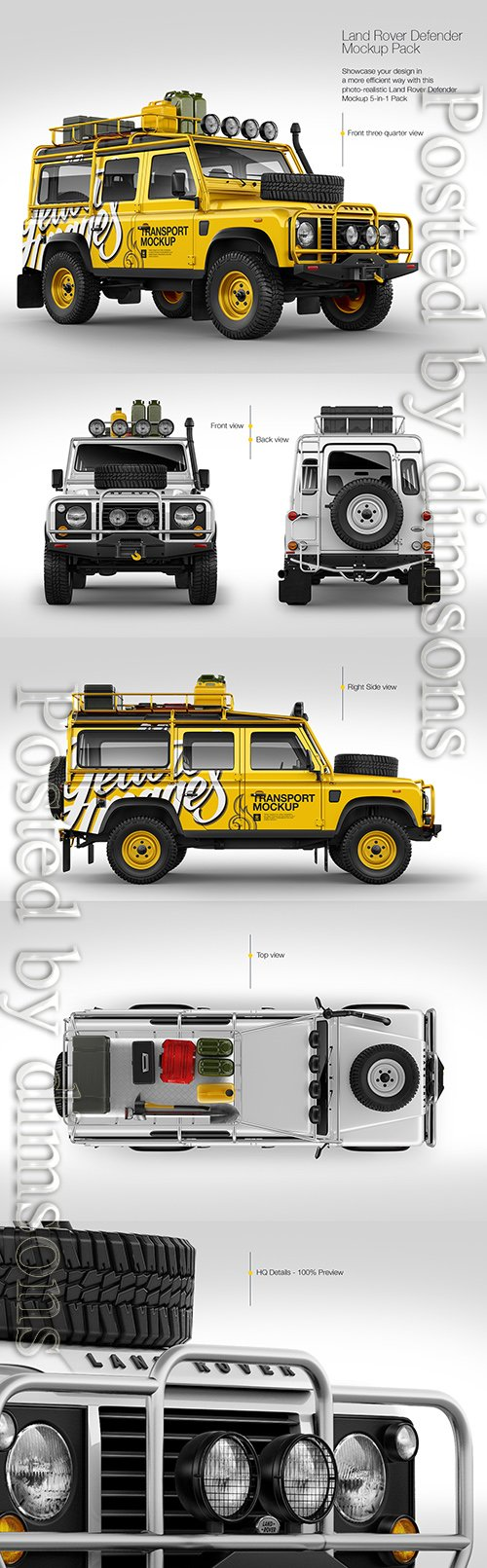 Land Rover Defender Mockup Pack TIF