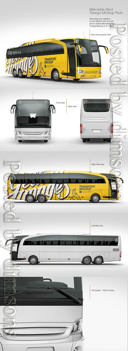 Mercedes-Benz Travego Mockup Pack TIF